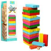 Популярная игра Дженга (Jenga, Джанга, Башня), цветная.