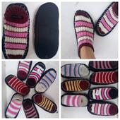лот 2шт!!!тапки-носки вязанные с антискользящей подошвой.