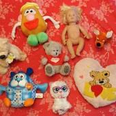 Лот мягких игрушек для девчонок