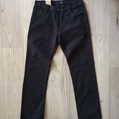 Фирменные новые коттоновые мужские джинсы тёмно-синего цвета р.34-33 на пот-43-44, поб-58