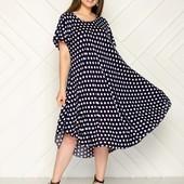 Платье с штапеля оверсайз 52-58