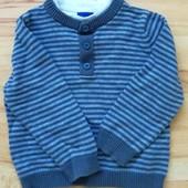 Детский свитер обманка 86-92 100% котон для вашего ангелочка уп 15% нп 5% скидка