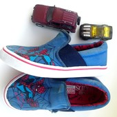 ▶▶▶Marvel Кеды Мокасины джинсовые Слипоны с Пауком Spiderman 17 см стелька◀◀◀ уп 15%, нп 5% скидка!