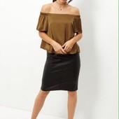 Женская блуза с открытыми плечами new look