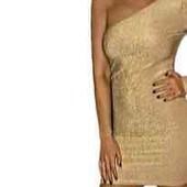 Шикарное платье на одно плечо/с оборками/USA/S-M!!!