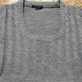 Теплое вязаное платье туника Qed London, размер 6-10