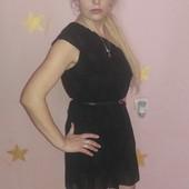 Платье чёрное совушка