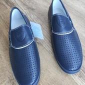 Туфли перфорированные макасины 34-35р