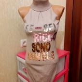 Эксклюзивное теплое шерстяное платье от бренда Lady Coco паетки перевертыши в хорошем состоянии!