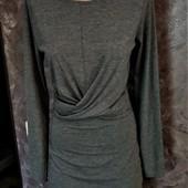 Фирменное серое платье в отличном состоянии!