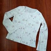 Распродажа блузок! 38-40р. Свободная блузка-жатка с вышивкой, без застёжки
