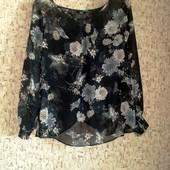 Распродажа блузок! 38-40р. Шифоновая блузка с разрезом по спинке F&F