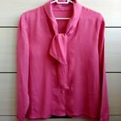 Распродажа блузок! 36-38р. Крепдешиновая винтажная блузка 90-х