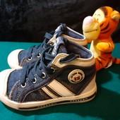 Крутые джинсовые хайтопы Bobbi Shoes, разм. 23 (15 см внутри). Сост. отличное!
