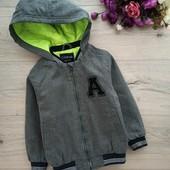 Классная куртка, бомбер на теплую осень мальчику 3-4лет.Большемерит.Ориентир. на замеры. Coolclub.