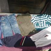 Лот 5 шт джинси-штани,мастерка 1-2 роки