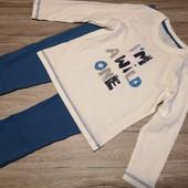 Германия! Котоновая пижамка на малыша!98-104 см рост! 2-4 года!