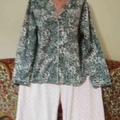 сборная флисовая пижама на пышные формы