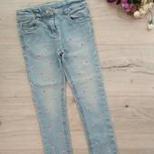Очень красивые джинсы скинни для девочки 3-4года. Denim &Co. Хорошее состояние