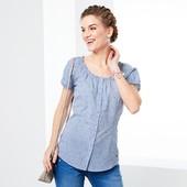 ☘ Блуза с коротким рукавом в мелкую клеточку от Tchibo(Германия), размеры наши: 44-46 (36 евро)