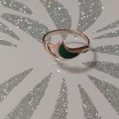 Кольцо серебро 925 пробы с эмалью