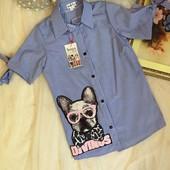 Останні Класні стильні з дуже оригінальним принтом Рубашки Якість Вам сподобається Кольори