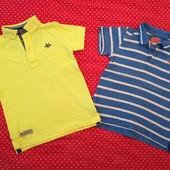 Одним лотом две футболки поло Next,на 5-6лет ( р. 110-116)в хорошем состоянии.