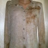 Легусенькая тоненькая стрейчевая рубашка Friendtex с люрексовой нитью .Очень хорошо тянется.