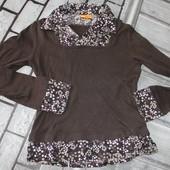 кофта-рубашка блуза для девочки, можно вместо школьной формы взять? 152 рост