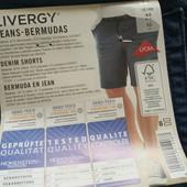 Стильные мужские джинсовые шорты Livergy (Германия), батал, размер евро 60