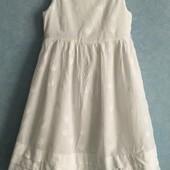 Хлопковое нарядное платье на 4-6 лет