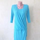 Шикарное платье на запах из вискозы в очень хорошем состоянии