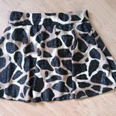 Шикарные трусики юбка от купальника с золотыми вкраплениями