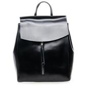 Стильный кожаный рюкзак- сумка