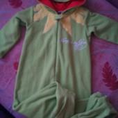 Пижама, человечек, кигуруми, слип, розмір 3-4 года 104 см, Primark. Frog. Лягушка, жаба