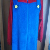 Пижама, человечек, кигуруми, слип, Super Mario, розмір M/L. сост. отличное