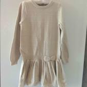 H&M красивою теплое вязаное платье с блеском 6-7-8 л 116-122-128 см очень хорошее сост