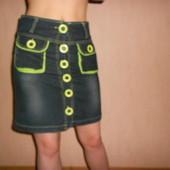 Юбка джинсовая, стрейчевая, XS,S 24, на бёдра до 80 см. Турция.