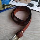 Рыжий кожаный пояс Echtes Leder