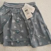 Шикарные юбочки для девочек, лен, размер 128