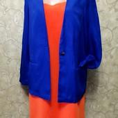 Собираем лоты!! Яркий комплект платье +пиджак, размер 14