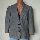 Стильный коттоновый(джинсовый) пиджак в полоску,16р(xl/2xl)