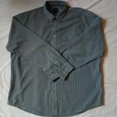 Фирменная мужская рубашка в клетку. Качество отменное! Не тонкая. xl/2xl