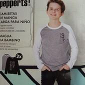 Комплект 2 шт регланы лонгсливы на мальчика Pepperts Германия размер 122/128