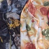Гольф сетка, принт цветы. Один размер 44-48