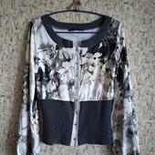Распродажа! 36-40р. Цветная кофта-блузка с широкой резинкой Say