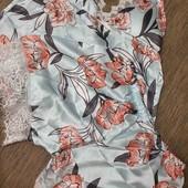 Пижама, спальный костюм шорты и майка