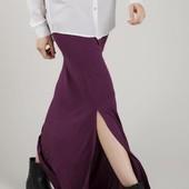 Длинная юбка макси в пол с разрезами terranova xs s