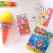 Всё одним лотом!набор печатей+игра рыбалка+игра мороженое сюрприз+познов.литература стоматолог.