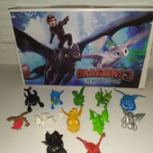 Игровой набор фигурок как приручить дракона 12 шт. отличное качество !